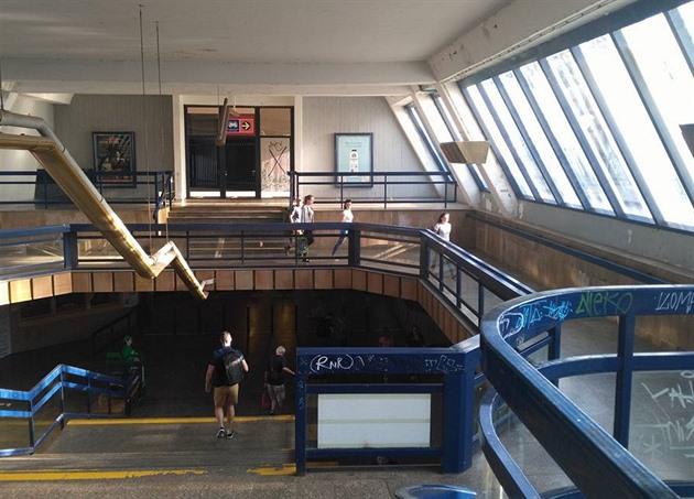 Новый переход на станции метро Vltavská