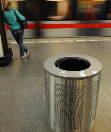 мусорницы в метро